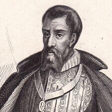 Portrait XIXe François de GUISE Bar-le-Duc Guerres de Religion Duc de Guise