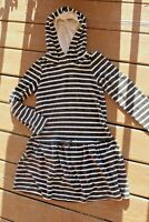 Girls Gymboree 10 soft velour Stripe hoodie dress NICE warm