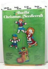 OOP Bucilla 4 Jeweled Holiday Ornaments Old Woman in The Shoe Kit 2822 Felt