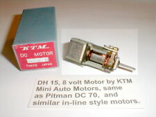 DH 15 8 Volt In-Line Motor by KTM 5 pole armature Vintage slot car with Box