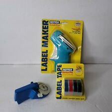 Dymo And Rotex Avery Label Maker Embosser W Rainbow Pak Of Tape 38 Or 12