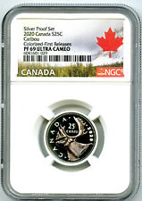 2020 CANADA 25 CENT SILVER COLORED PROOF NGC PF69 UCAM QUARTER FIRST RELEASES