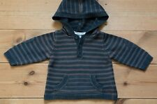 Baby Boys Vertbaudet Knitted Hooded Top/Jumper. 100% Cotton. Age 3-6 Months.