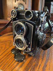MINOLTA AUTOCORD TLR Film Camera Rokkor 75mm F3.5 3.2 From JAPAN Minty In Case