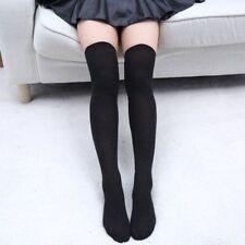 Women Girl Stripe Stripy Over The Knee Thigh High Stocking Knit Thick Long Socks