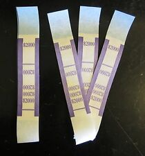 750 Self Sealing Purple $2000 Currency Straps Money Bill Bands Pmc Brand Band
