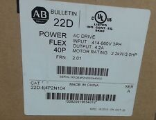 NIB Allen-Bradley PowerFlex 40P 22D-E4P2N104 Series A 3HP 460vac 60 day warranty