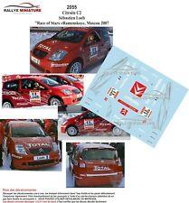 Decals 1/43 Ref 2055 Citroen C2 R2 Sebastien Loeb Race Of Stars Russia 2007