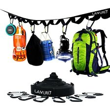 Campsite or Garden Supplies Storage Strap with 8 Hooks   Hanging Your Camping...