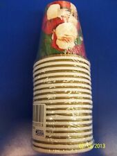 Magic of Christmas Santa Claus Holiday Banquet Dinner Party 9 oz. Paper Cups