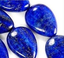 Natural 13x18mm Egyptian Lapis Lazuli Gem Drip Loose Bead 15'' AAA mm1259
