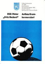 """DDR-Liga 80/81 motor """"Fritz Heckert"""" Karl-Marx-Stadt-construcción krumhermersdorf"""