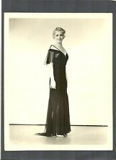 LOVELY BLONDE ANITA PAGE MODELS EVENING DRESS - 1930 - SILENT + TALKIE STAR  SIL