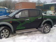 mitsubishi L200 warrior/animal pickup, tribal stripes in any colour, full set