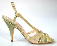 sexy NIB $683 ALEXA WAGNER beige strappy SNAKE sandals shoes 36 6