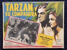 TARZAN AND HIS MATE JOHNNY WEISSMULLER Maureen O'Hara MEXICAN LOBBY CARD 1934