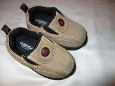 Infant Toddler Boy Shoes Size 4 OshKosh Suede Leather Slip On Nice Preowned