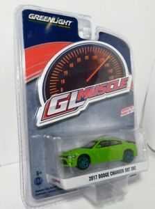 Greenlight GL Muscle Series 19 2017 Dodge Charger SRT 392 Green Machine CHASE