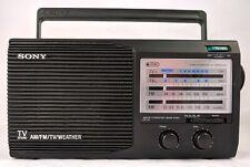 Sony ICF 34 Portable Radio 4 Band AM FM TV Weather