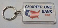 Advertising Acrylic Keychain - Charter One Bank F.S.B.