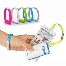 Data & Charging USB to Micro USB / Lightning Cable Bracelet Wristband Style