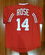 Pete Rose Autographed Signed Jersey Cincinnati Reds Player Hologram JSA