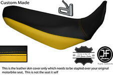 BLACK & YELLOW CUSTOM FITS YAMAHA XT 660 R 04-17 DUAL LEATHER SEAT COVER