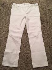 Michael Kors Women's Flat Front White Pants/Jeans, Size 8