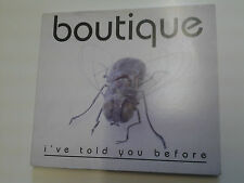 Boutique I've Told You Before CD Single