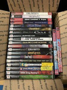 Lot of 21 Playstation 2 PS2 Games bundle lot Final Fantasy+Kingdom Hearts+CoD++