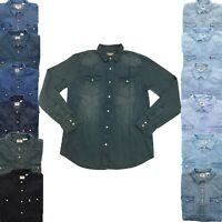 Levi's Levi Strauss Mens Barstow Long Sleeve Denim Button Down Western Shirt