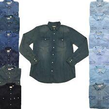Levi's Levi Strauss Mens Barstow Long Sleeve Denim Button Down Western Shirt