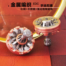 Copper & Stainless steel Hand twisting Spinning Top Gyro Gyroscope Finger toy