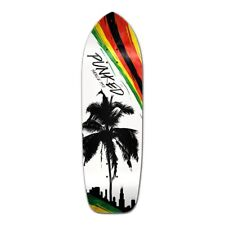 Yocaher Old School Longboard Deck - Palm City Rasta