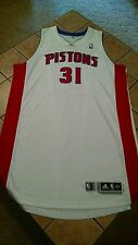 Game Issued Adidas Charlie Villanueva Detroit Pistons 13/14 Home White Jersey