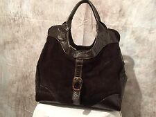An Authentic Foley & Corinna Brown Suede & Leather Tote Bag