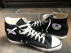 VINTAGE MADE IN USA HIGH TOP CONVERSE ALL STAR CHUCK TAYLOR SHOES SIZE 9-1/2