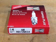Champion Spark Plug Copper Plus 446 REC12MCC4, Pack of 4 Plugs