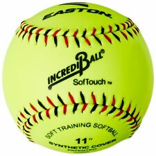 "New Easton Softouch Incrediball Training Fast Pitch Softballs 12"" 1 Dozen Neon"