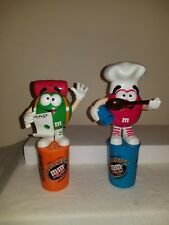 M&M Collectibles 2001 France UK Minis Dispenser - Backpacker and Chef RARE