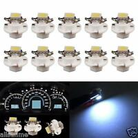 10X White B8.4D 5050 1-SMD Dash Auto Side Dash Gauge Instrument LED Lights Bulbs