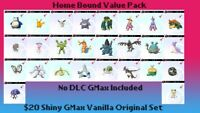 Vanilla Shiny GMax  Homebound Value Pack for Pokemon Sword & Shield No DLC GMAX