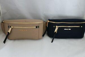 Michael Kors Crossbodies Polly Nylon Belt Bag - Admiral or Truffle