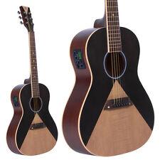 Lindo Aztec Parlour Traveller Electro-Acoustic Guitar Preamp- Black / Natural