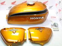 Honda CB 750 Four K2 Lacksatz Candy Gold Tank + Seitendeckel Repro + Anbauteile