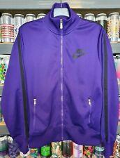 🟣 Nike Mens Large Tracksuit Jacket Top Classic Retro Vintage Rare Bold Purple