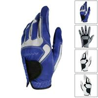 Men All Weather Soft Golf Gloves Leather  Palm Patch Durable