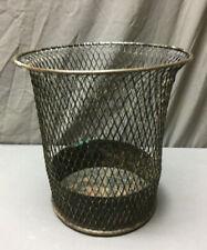 Vintage Waste Basket Expanded Metal Garbage Can Industrial Steampunk 319-19L