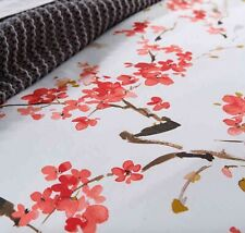 Christy Haruki Japanese Blossoms Floral Euro Pillow Sham Coral Nip