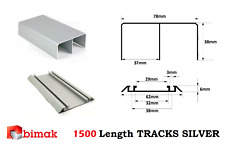 SLIDING SYSTEM WARDROBE DOOR GEAR KIT WHEELS SET BIMAK TRACKS TDS 1500mm Silver